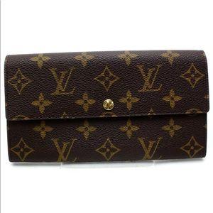 Louis Vuitton Sarah Long Wallet Portefeuille